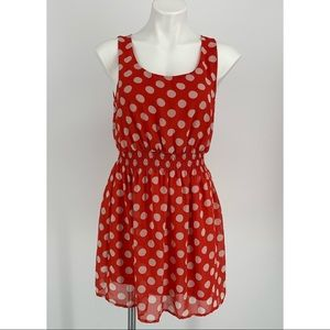Forever 21 Red W/White Polka Dots Dress Size M